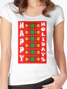 HAPPY HOLIDAYS 7 Women's Fitted Scoop T-Shirt