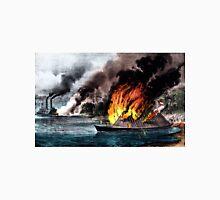 Destruction of the rebel ram Arkansas - 1862 - Currier & Ives Unisex T-Shirt