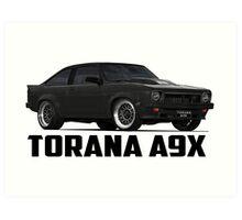 Holden Torana - A9X Hatchback - Black Art Print