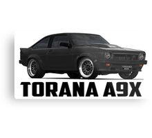 Holden Torana - A9X Hatchback - Black Metal Print