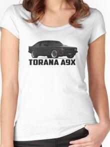 Holden Torana - A9X Hatchback - Black Women's Fitted Scoop T-Shirt