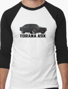 Holden Torana - A9X Hatchback - Black Men's Baseball ¾ T-Shirt