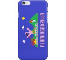 Flamingodzilla Pixel iPhone Case/Skin