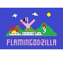 Flamingodzilla Pixel Photographic Print