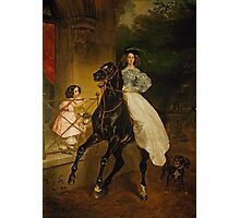 Karl Bryullov Bryullo - A Rider 1832 . Fashion Woman Portrait Photographic Print