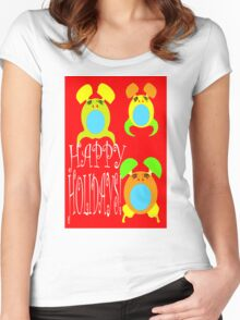 HAPPY HOLIDAYS 8 Women's Fitted Scoop T-Shirt