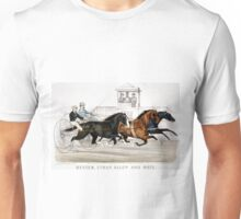 Dexter, Ethan Allen and mate In their wonderful race, over the fashion course - 1874 - Currier & Ives Unisex T-Shirt