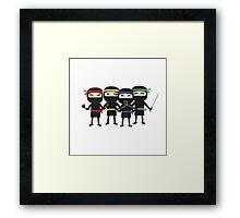 ninja group with weapon Framed Print