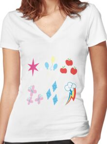 My little pony all in one Women's Fitted V-Neck T-Shirt