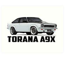 Holden Torana - A9X Hatchback - White Art Print