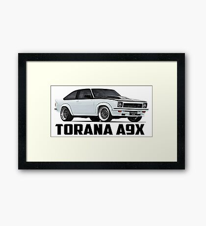 Holden Torana - A9X Hatchback - White Framed Print