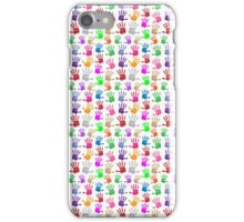 Hand print symbol multi color pattern iPhone Case/Skin