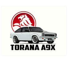 Holden Torana - A9X Hatchback - White 2 Art Print