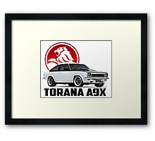 Holden Torana - A9X Hatchback - White 2 Framed Print