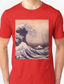 Katsushika Hokusai - The Great Wave Off the Coast of Kanagawa 19th century . Japanese Seascape Unisex T-Shirt