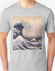 Katsushika Hokusai - The Great Wave Off the Coast of Kanagawa 19th century . Japanese Seascape Unisex T-Shirt