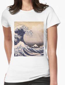 Katsushika Hokusai - The Great Wave Off the Coast of Kanagawa 19th century . Japanese Seascape Womens Fitted T-Shirt