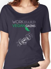 Vegan Work Out Gains Women's Relaxed Fit T-Shirt