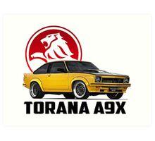 Holden Torana - A9X Hatchback - Yellow 2 Art Print