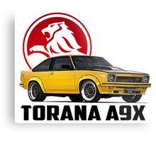 Holden Torana - A9X Hatchback - Yellow 2 Metal Print