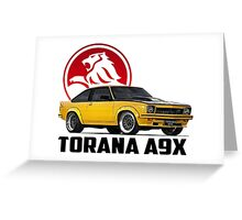 Holden Torana - A9X Hatchback - Yellow 2 Greeting Card