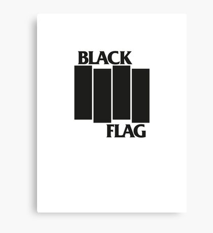 BLACK FLAG on WHITE Canvas Print