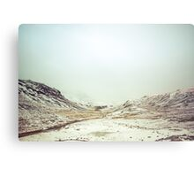 Winter Valley Metal Print