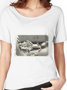 Kanbara 2nd Edition - Hiroshige Ando - 1833 Women's Relaxed Fit T-Shirt