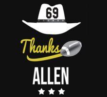 Allen Jared tribute 69 thanks fans T-shirt hommage  One Piece - Short Sleeve