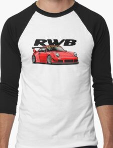 RWB (red) Men's Baseball ¾ T-Shirt