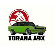 Holden Torana - A9X Hatchback -  Green 2 Art Print