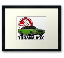 Holden Torana - A9X Hatchback -  Green 2 Framed Print