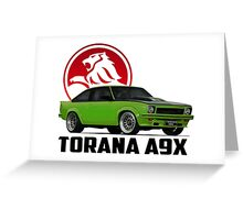 Holden Torana - A9X Hatchback -  Green 2 Greeting Card
