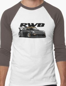 RWB (black) Men's Baseball ¾ T-Shirt