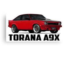 Holden Torana - A9X Hatchback - Red Canvas Print