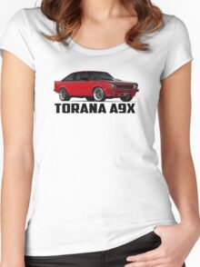 Holden Torana - A9X Hatchback - Red Women's Fitted Scoop T-Shirt