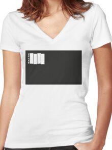 BLACK FLAG SQUARE Women's Fitted V-Neck T-Shirt