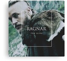 king ragnar lothbrok Canvas Print