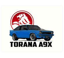 Holden Torana - A9X Hatchback - Blue 2 Art Print