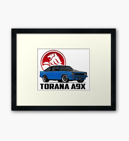 Holden Torana - A9X Hatchback - Blue 2 Framed Print