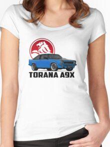 Holden Torana - A9X Hatchback - Blue 2 Women's Fitted Scoop T-Shirt