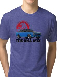 Holden Torana - A9X Hatchback - Blue 2 Tri-blend T-Shirt