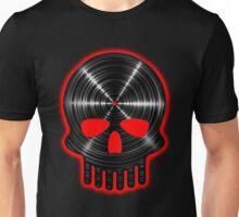 Vinyl Skull RED Unisex T-Shirt