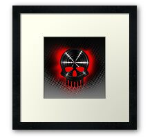 Vinyl Skull RED Framed Print