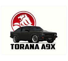 Holden Torana - A9X Hatchback - Black 2 Art Print