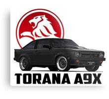 Holden Torana - A9X Hatchback - Black 2 Metal Print