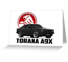 Holden Torana - A9X Hatchback - Black 2 Greeting Card