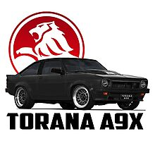 Holden Torana - A9X Hatchback - Black 2 Photographic Print