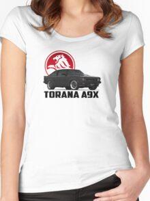Holden Torana - A9X Hatchback - Black 2 Women's Fitted Scoop T-Shirt