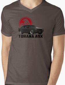 Holden Torana - A9X Hatchback - Black 2 Mens V-Neck T-Shirt